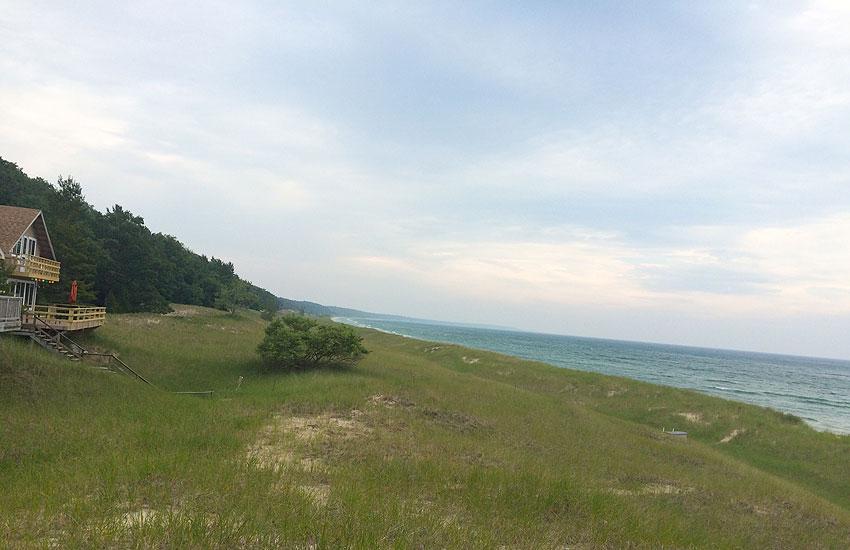 lake michigan views from beachfront cottage