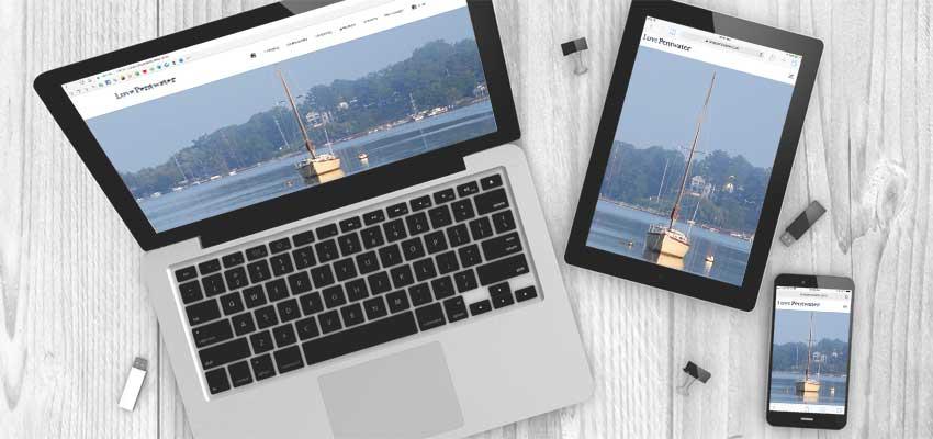love pentwater website design