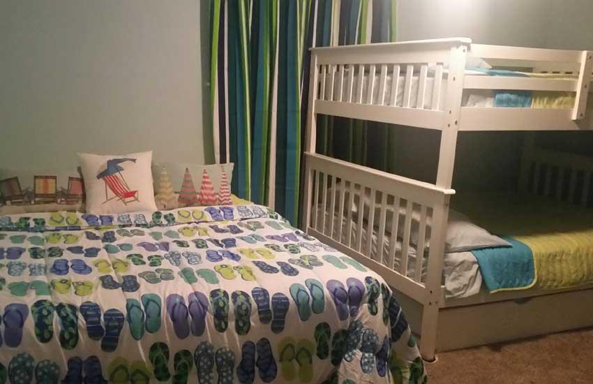 pentwater village summer house bedroom